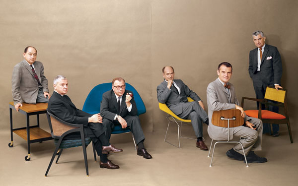 Playboy cover from 1961 featuring modernism's great designers, including Edward Wormley, second from the left.