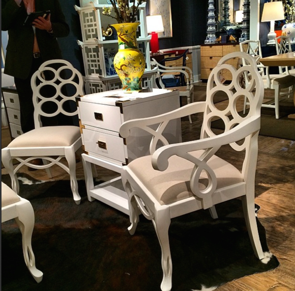 Reproduction loop chairs spotted by me at the Spring 2014 High Point Market