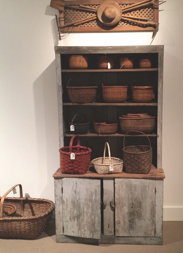 Some of the many baskets in the estate of Bunny Mellon
