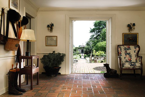 Note the bergere to the right in Bunny Mellon's foyer