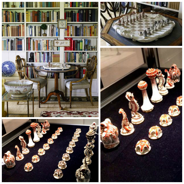 Sealife Chess set from the Estate of Bunny Mellon