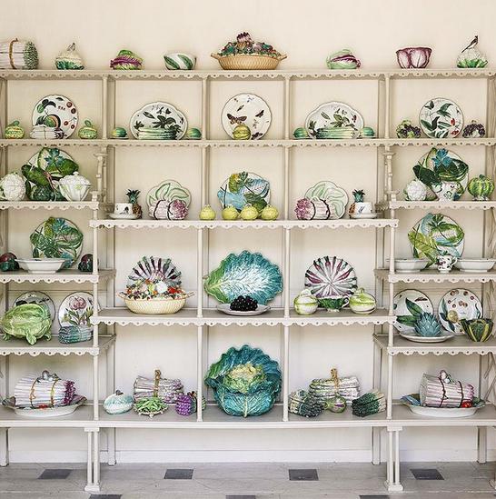 Trompe L'oeil porcelain from the Estate of Bunny Mellon