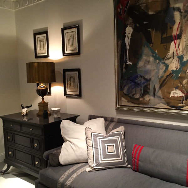 A vignette from Mary MacDonald's new furniture line for Chaddock introduced at the Spring 2014 High Point Market