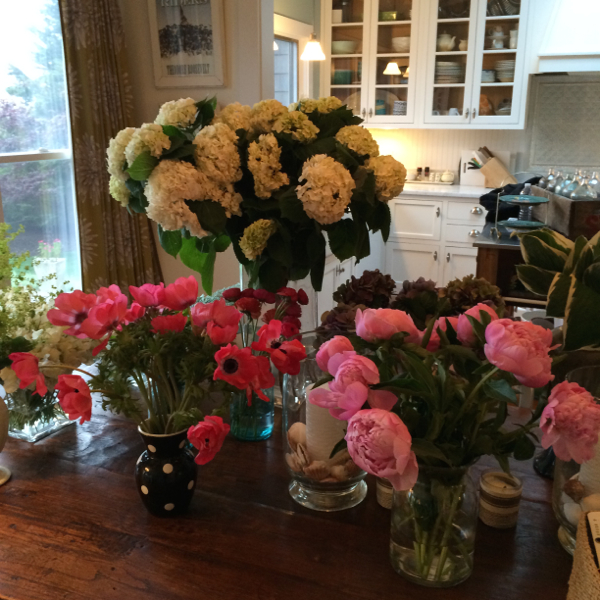 Some of the flowers for a photo shoot at my Montauk house.