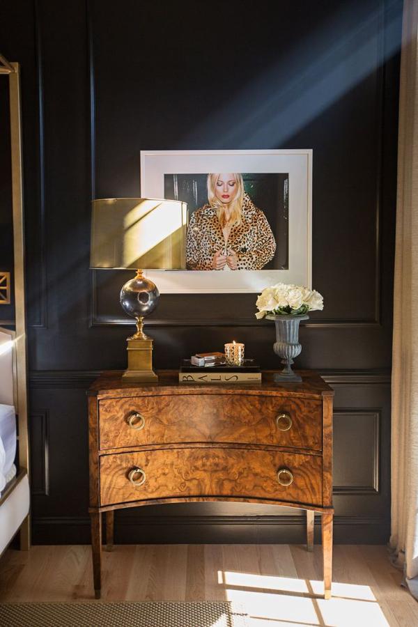 Stunner burl nightstand.