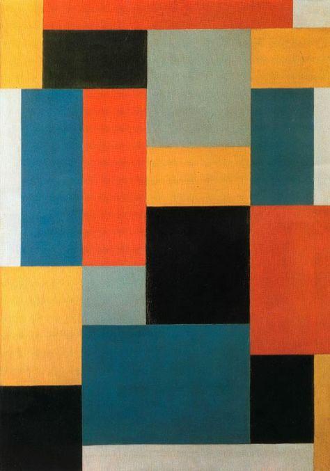 De Stijl artist Theo van Doesburg - Composition (1919-1920)