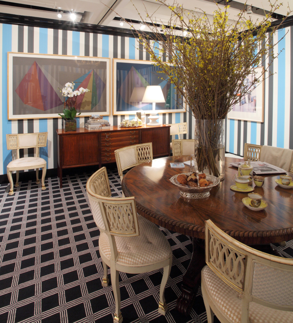 Interior designer Ashley Darryl's Breakfast Room for Sotheby's Show House. Photo courtesy of Sotheby's.