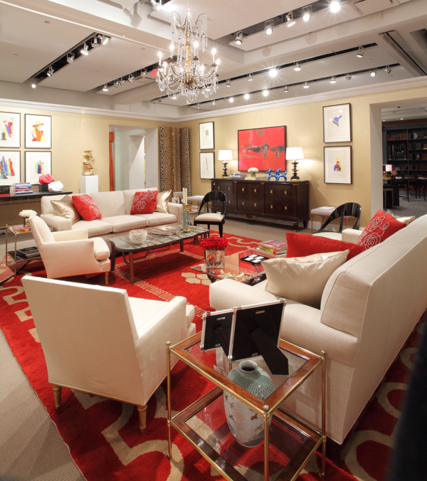 Living room designed by Cullman & Kravis for Sotheby's Show House. Photo courtesy of Sotheby's.