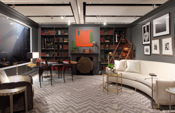 Library designed by Juan Carretero for Sotheby's Show House. Photo courtesy of Sotheby's.