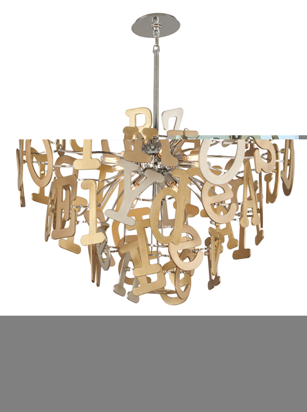 Corbett Lighting's Media Chandelier