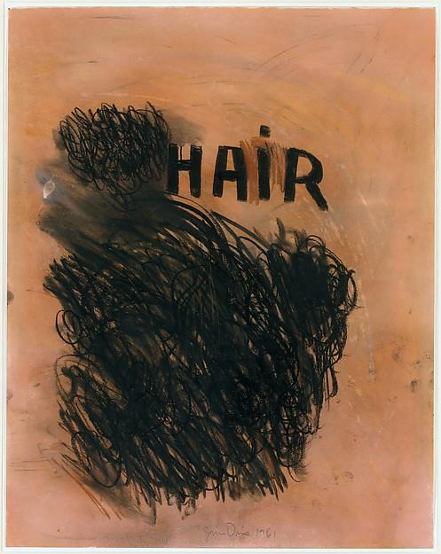 """""""Hair"""" Pastel on Paper Jim Dine Photo via the Met"""