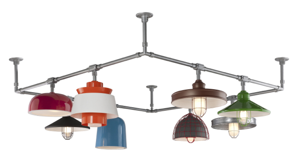 Troy RLM Lighitng's Structure system is wholly customizable and can be used to suspend any Troy RLM fixture.