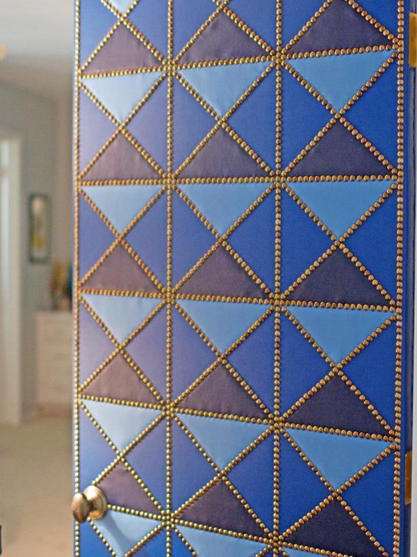 DIY project by Meredith Carmichael' from leather scraps and nailheads.