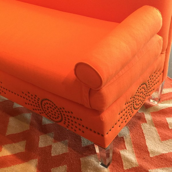 Detail of sofa designed by Tobi Fairley for CR Laine. Photograph by Lynn Byrne.