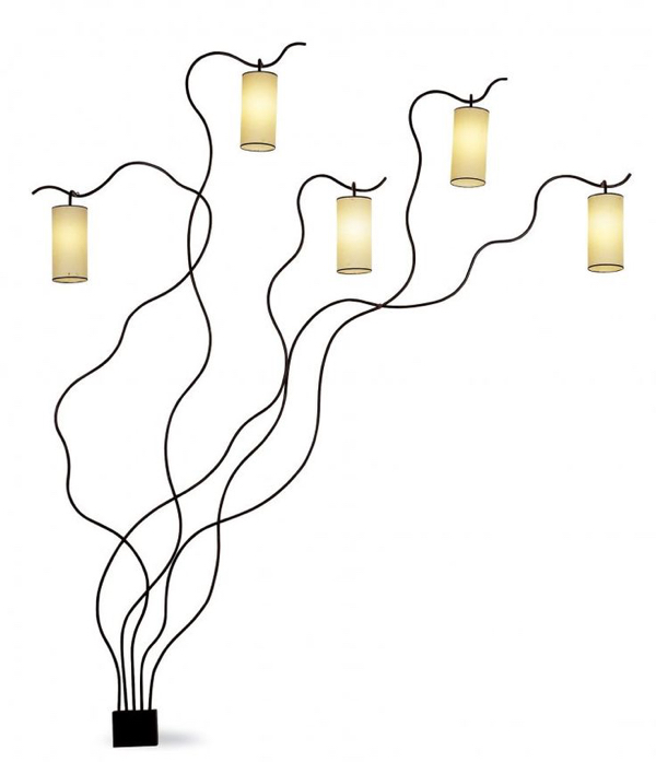 "From his ""Laine"" collection, this light fixture is considered one of Royere's finest works. c. 1950-1955"