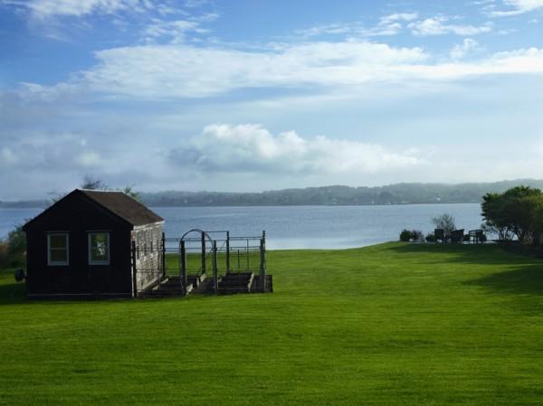 The view of my backyard from my deck in Montauk. Photo by Ellen McDermott.