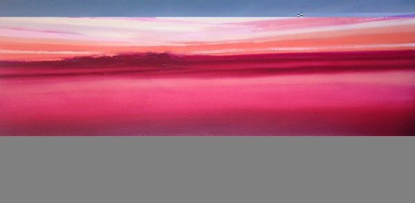 """So Far, This Land"" oil on canvas 30"" x 60"" Zoe Pawlak"