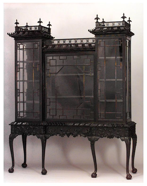 Chinese Chippendale cabinet.