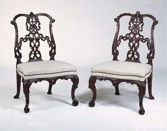 Chippendale ribband chairs