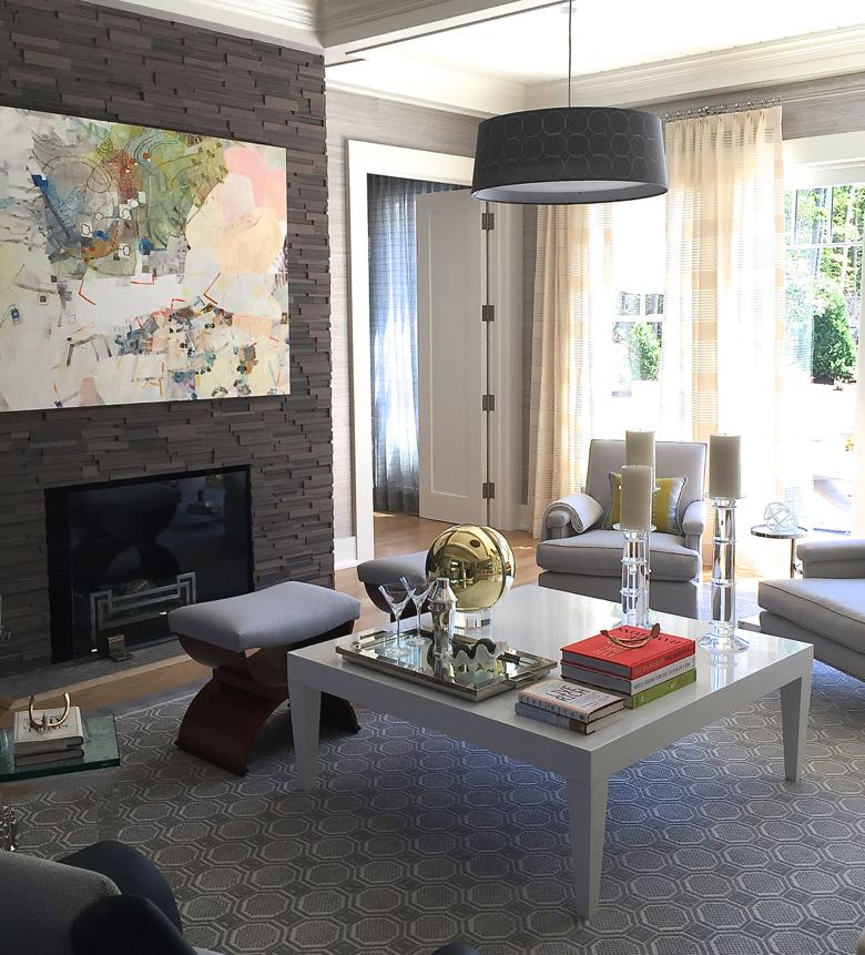 Interior design by Patricia Fisher for the Hampton Designer Show House. Painting by Josette Urso.