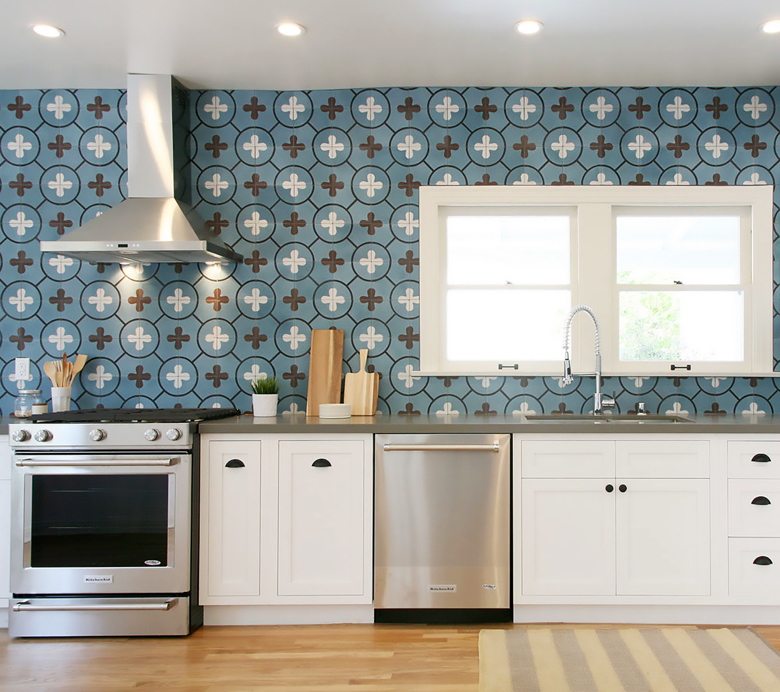 flower power kitchen installation designer: matters of space photographer: Lily King Photography available for print & web