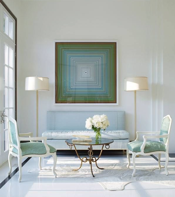 Interior Design by Jan Showers. Painting by Jason Salavon.
