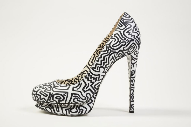 Keith Haring Inspired Pumps by Nicholas Kirkwood