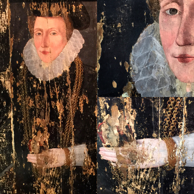 A 16th century portrait and details, that I spotted at Lorford Antiques in the Cotswolds.