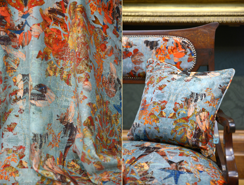 """A closer look at Blackpop's """"Mary"""" fabric from their """"The Tudors-Deconstructed"""""""