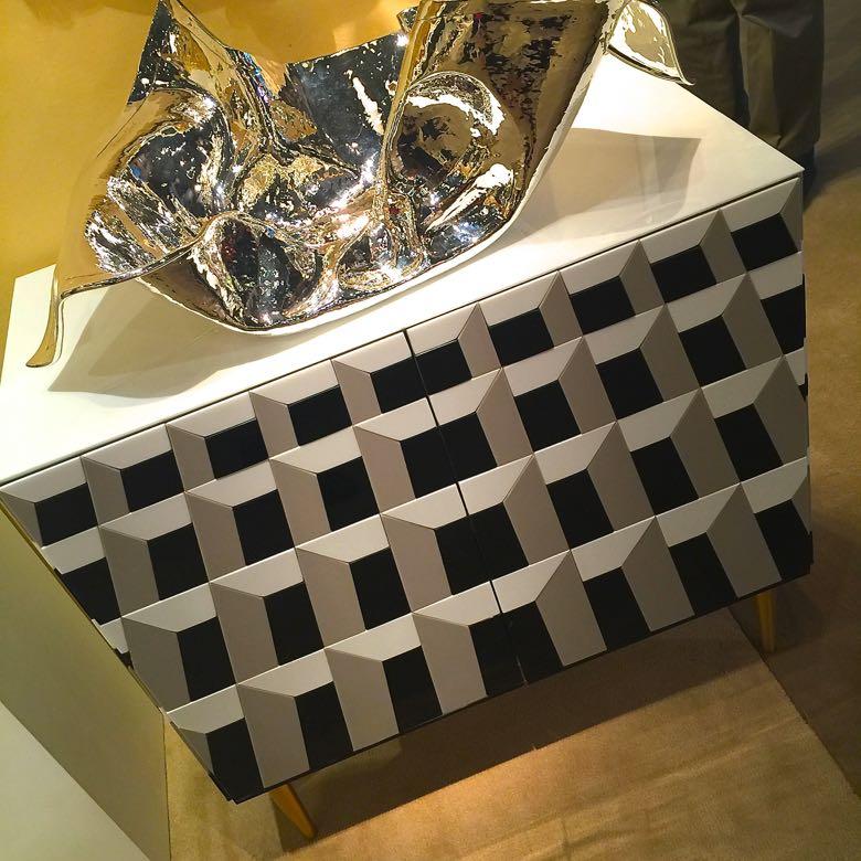 International show geometric cabinets