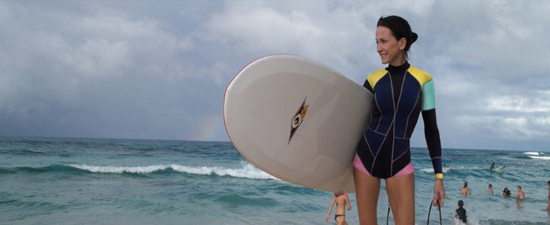Cynthia is an avid surfer.