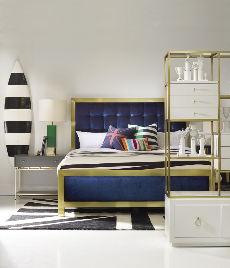 The Cynthia Rowley collection for Hooker Furniture has plenty of gold accents