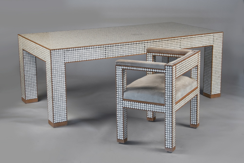 Desk and chair by Ado Chale, Belguim 1965-70