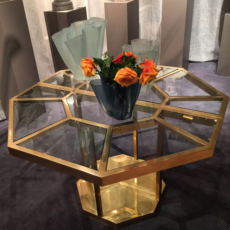 international show brass table