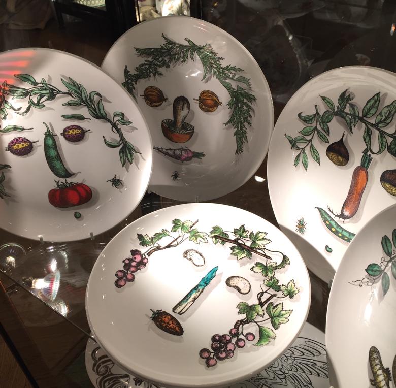 Piero Fornasetti Vegetable Face plates