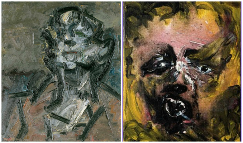 Art by David Bowie and Frank Auerbach