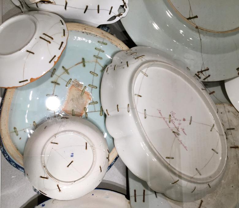 friday field trip-ceramics fair -stapled dishes