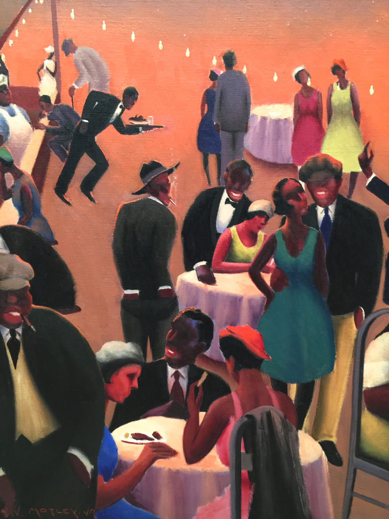 """Detail from """"Barbecue"""" by Archibald Motley, Oil on Canvas"""