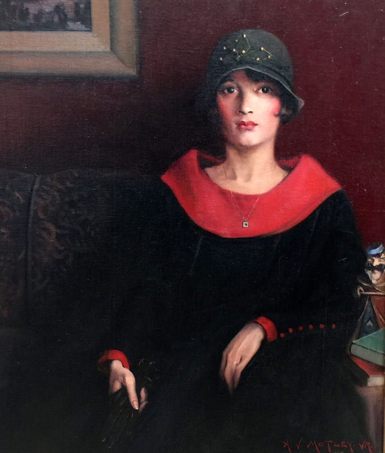 """Detail from """"The Octoroon Girl"""" by Archibald Motley, Oil on Canvas"""