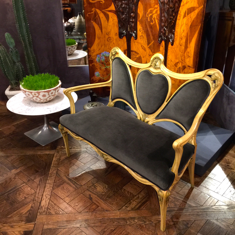 Maison Gerard at the Winter Antiques Show 2016 did a masterful job of mixing old plus new