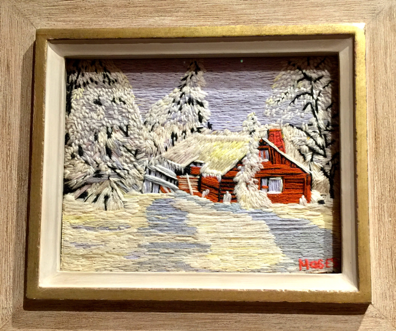 This embroidery by Grandma Moses was done before she started painting.