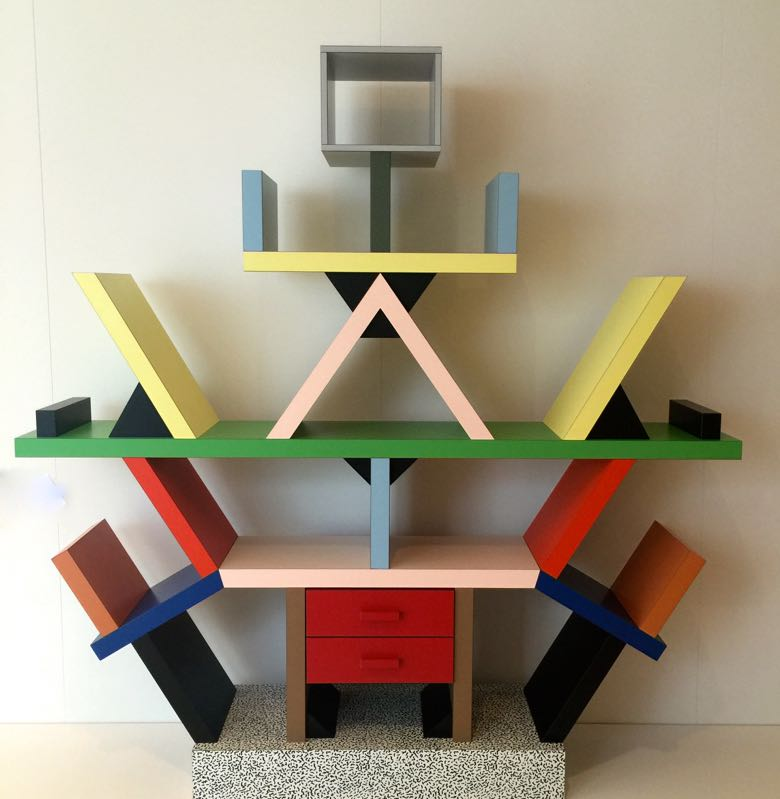 Iconic Memphis Group bookcase by Ettore Sottsass