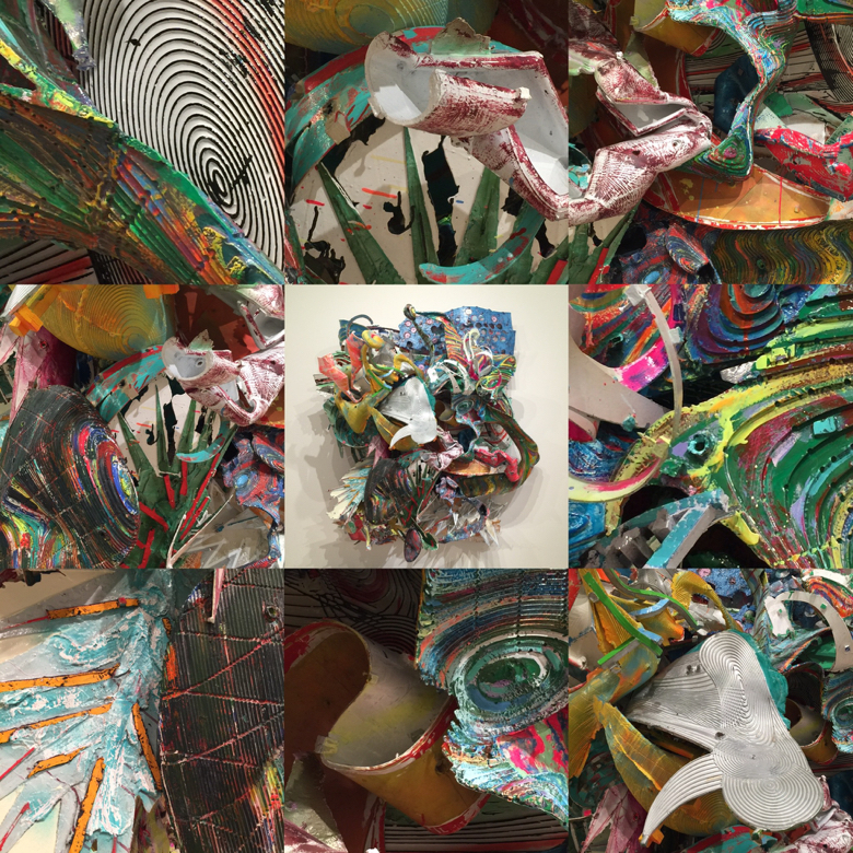 """Details from Frank Stella's """"At Sainte Luce.'"""