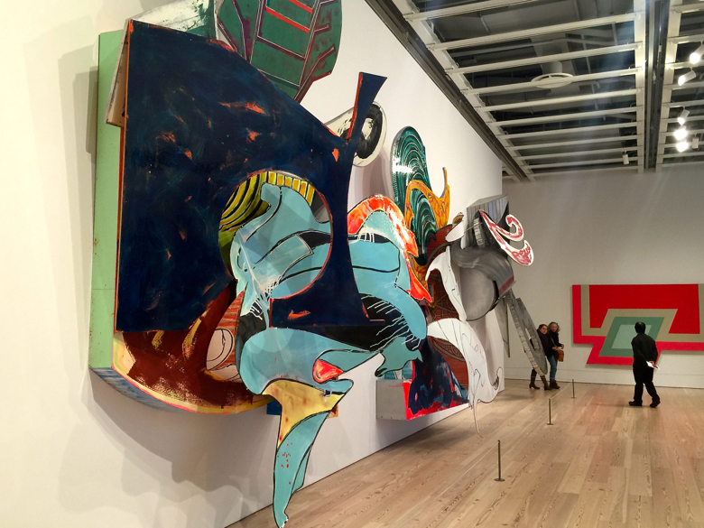 The Frank Stella Retrospective at the Whitney Museum of Art.