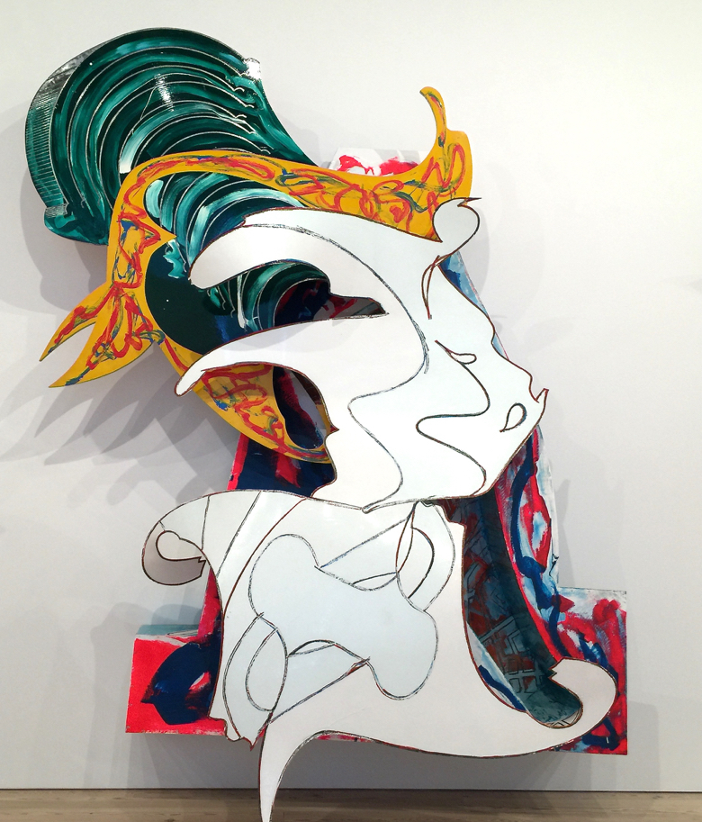 """Frank Stella """"The Whiteness of the Whale"""" 1987"""