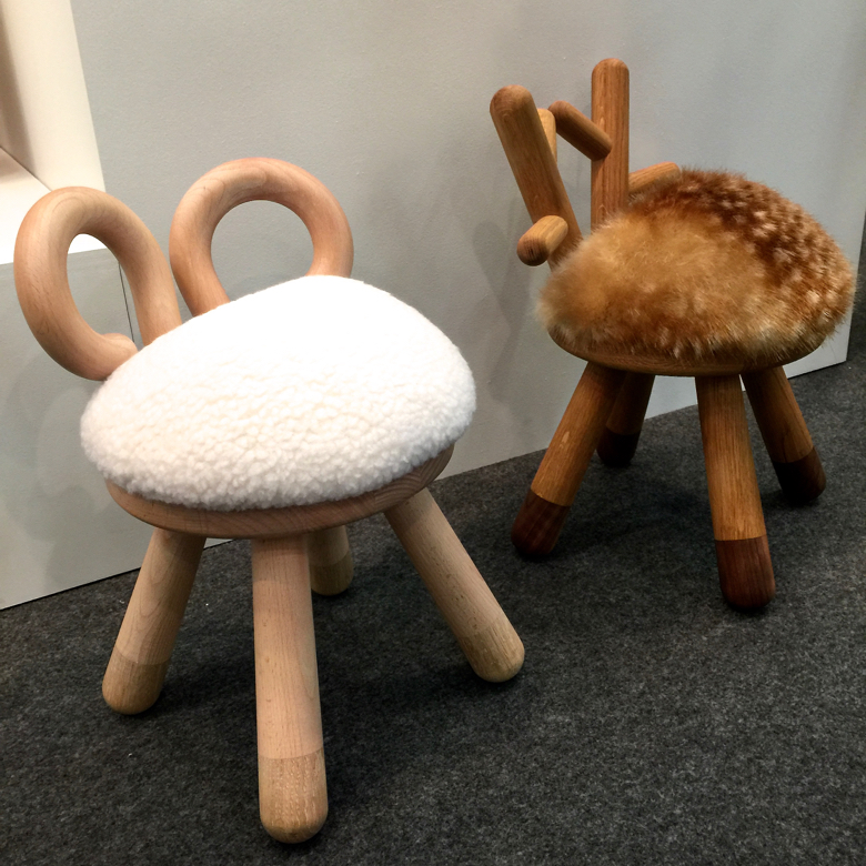 Children's furniture shown by Kinder Modern shown at the Architectural Digest Home Show