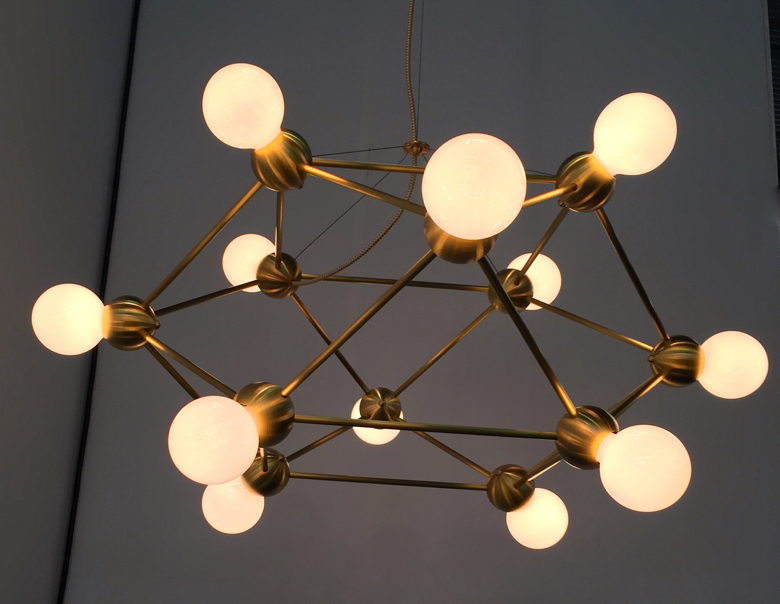 Lighting by Rosie Li Studio shown at the Architectural Digest Home Show