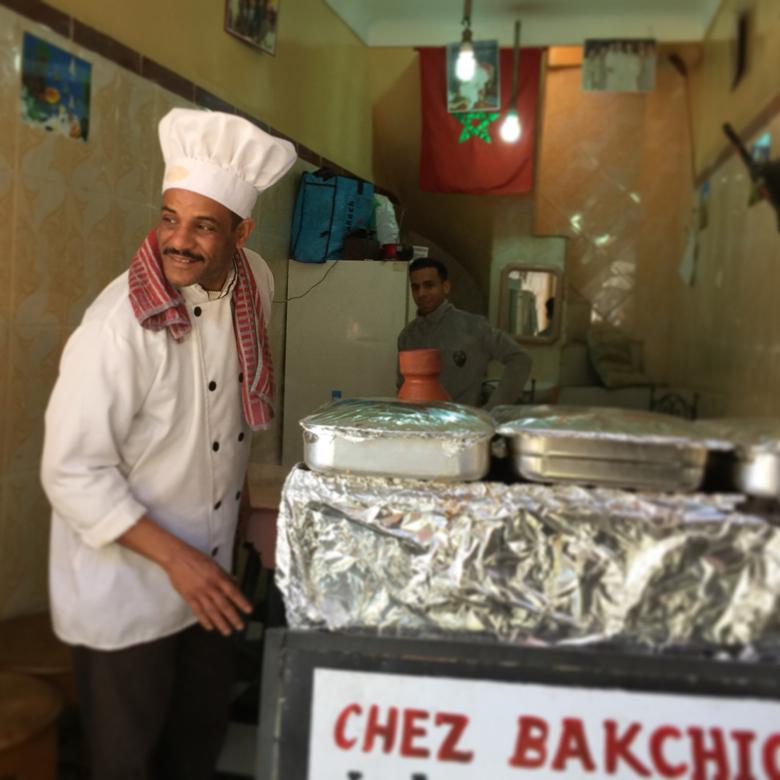 Chef in the Medina. Marrakech, Morocco
