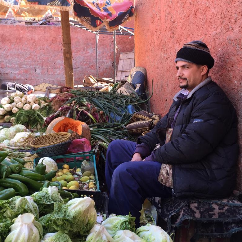 Man in the Medina. Marrakech, Morocco