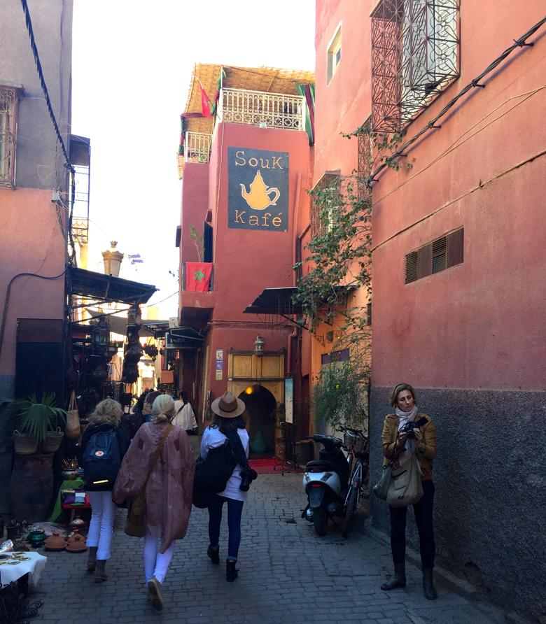 The Medina in Marrakech, Morocco